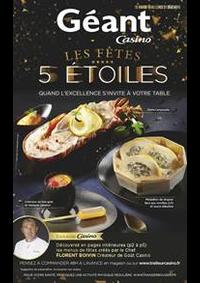 Prospectus Géant Casino SAINT GRÉGOIRE : Les fêtes 5 étoiles