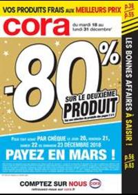Prospectus Cora MASSY : -80% sur le deuxième produit