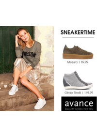 Prospectus Avance BRUXELLES Barrière : Avance Sneakertime!