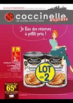 Prospectus Coccinelle Express : Je fais de réserves à petits prix!
