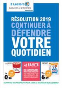 Prospectus E.Leclerc SCIEZ SUR LÉMAN / THÔNON : Résolution 2019 continuer à défendre votre quotidien