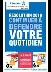 Prospectus E.Leclerc Rosny Sous Bois : Résolution 2019 continuer à défendre votre quotidien
