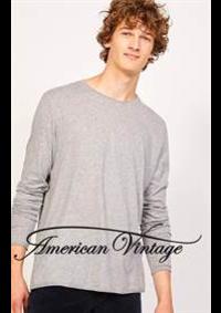Prospectus American Vintage Boulogne Billancourt : Collection Homme