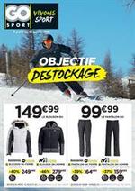 Prospectus Go Sport : Objectif Destockage