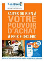 Prospectus E.Leclerc : Faites du bien à votre pouvoir d'achat à prix E.Leclerc