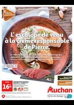 Prospectus Auchan : L'escalope de veau à la crème de Pierre