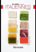 Promos et remises  : Carte des saveurs italiennes 2018-2019