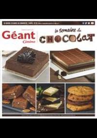 Prospectus Géant Casino ANGERS 172 rue Létanduère 172 rue Létanduère : La semaine du chocolat