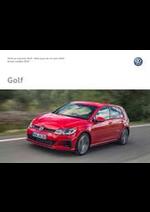 Prospectus Volkswagen : Volkswagen Golf