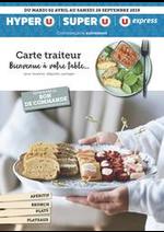 Prospectus U Express : CARTE TRAITEUR BIENVENUE À VOTRE TABLE...