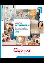 Prospectus Gedimat : Revetements sols & murs, salles de bains et cuisines