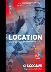 Prospectus Loxam PARIS : Location 2019