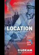 Promos et remises  : Location 2019