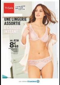 Prospectus E.Leclerc MOISSELLES : Une lingerie assortie à chaque instant