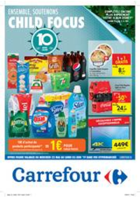 Prospectus Carrefour MONS Grands Prés : Ensemble, soutenons Child Focus