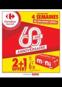 Promos et remises Carrefour Market THONON LES BAINS  : 2 + 1 OFFERT