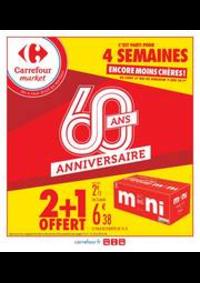 Promos et remises Carrefour Market Thonon-les-Bains - Avenue Jules Ferry : 2 + 1 OFFERT