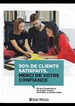 Prospectus Saint Maclou : 90% de clients satisfaits