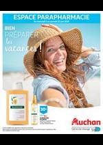 Prospectus Auchan : Bien préparer les vacances !
