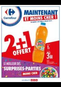 Prospectus Carrefour Drancy : Maintenant et moins cher ! Le meilleur des surprises-parties