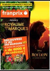 Prospectus Franprix : Le royaume des marques