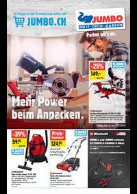 Promos et remises Jumbo Maximo Allmendingen b. Bern : Mehr power beim Anpacken.