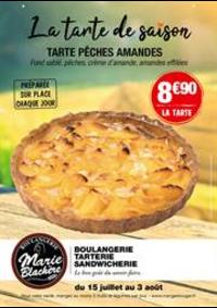 Prospectus Marie Blachère Claye Souilly : La tarte de saison
