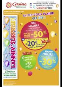 Prospectus Supermarchés Casino PARIS 16 Rue des Belles Feuilles : Faites-vous plaisir cet été !