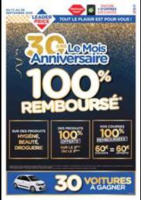 Prospectus Leader Price Montreuil : 100% Remboursé