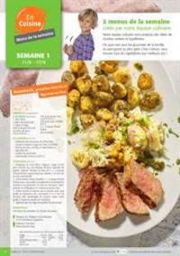 Menus Colruyt GEMBLOUX : 2 menus de la semaine crees par notre equipe culinaire