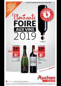 Prospectus Auchan SARCELLES Division Leclerc : L'étonnante foire aux vins 2019 !