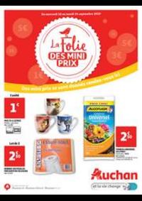 Prospectus Auchan Drive VELIZY : La folie des mini prix