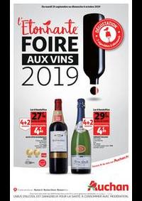 Prospectus Auchan Mulhouse : L'étonnante foire aux vins 2019 !