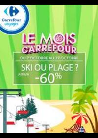 Prospectus Carrefour CLAYE-SOUILLY : Ski ou plage ? Jusqu'à -60%