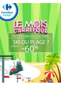 Prospectus Carrefour : Ski ou plage ? Jusqu'à -60%