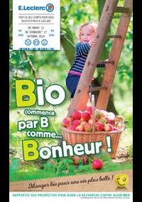 Prospectus E.Leclerc CLICHY SOUS BOIS : Bio commence par B comme... Bonheur !