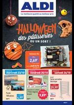 Prospectus Aldi : Halloween des pâstisseries ou un sort!