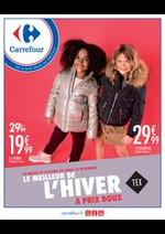 Prospectus Carrefour : LE MEILLEUR DE L'HIVER TEX à prix doux