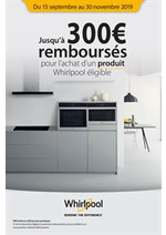 Prospectus Gitem : Jusqu'à 300€ remboursés pour l'achat d'un produit Whirlpool éligible