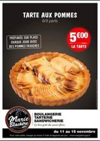 Prospectus Marie Blachère Varennes-sur-Seine : Tarte aux pommes