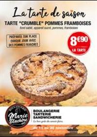 Prospectus Marie Blachère Varennes-sur-Seine : La Tarte de saison