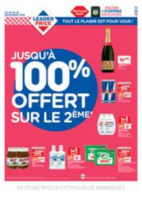 Prospectus Leader Price Cergy-Pontoise : Jusqu'à 100% offert sur le 2ème