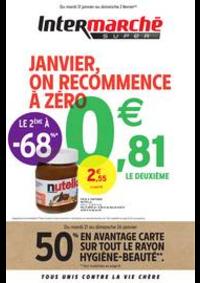 Prospectus Intermarché Super Bondy : JANVIER, ON RECOMMENCE À ZÉRO