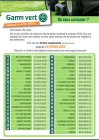 Prospectus Gamm vert NOZAY : Catalogue Gamm vert