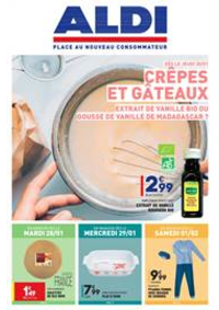 Prospectus Aldi Lescar : Crêpes et Gâteaux