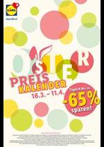 Prospectus Lidl : Oster Preis Kalender