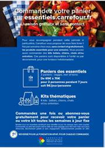 Services et infos pratiques Carrefour : Comandez votre panier sur essentiels.carrefour.fr. Livraison Gratuite et sans contact