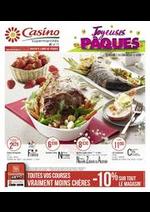 Prospectus Supermarchés Casino : Joyeuses Pâques