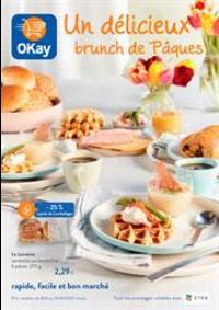 Prospectus OKay Supermarchés ETTERBEEK : Un delicieux brunch de Paques