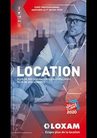 Prospectus Loxam PARIS : Tarif Professionnel 2020